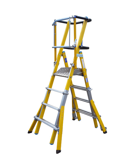 FIBREGLASS-EXTENDABLE-PODIUM-LADDER